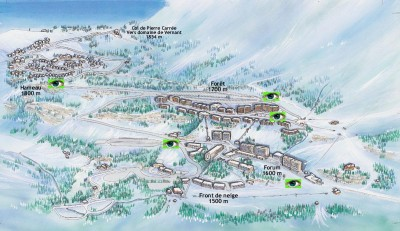 plan de la station flaine