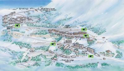 plan de la station flaine